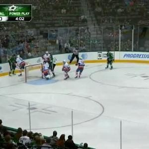 Jaroslav Halak Save on Jamie Benn (02:46/1st)