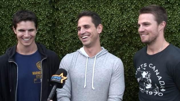 Robbie Amell, Greg Berlanti and Stephen Amell chat with Access Hollywood at Comic-Con, July 2013 -- Access Hollywood