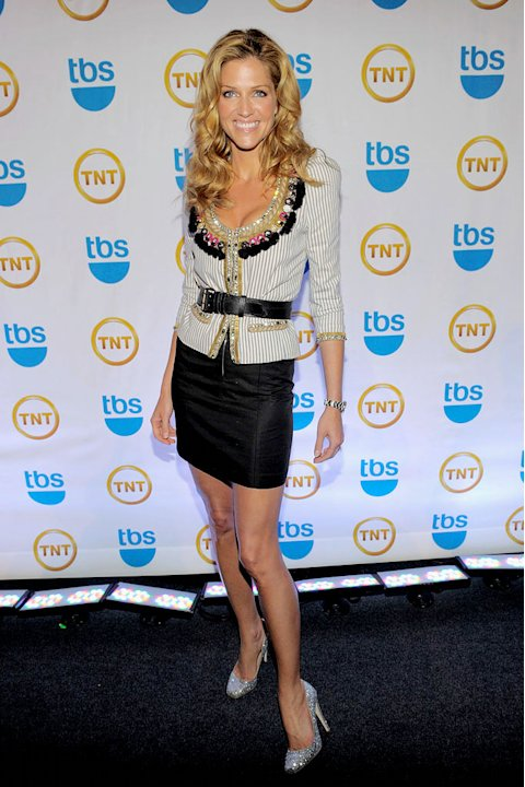 Tricia Helfer attends the TEN Upfront presentation at Hammerstein Ballroom on May 19, 2010 in New York City.