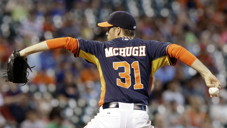 McHugh strong in Astros 5-1 win over Athletics