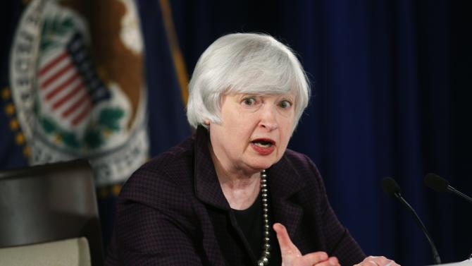 U.S. Federal Reserve Chair Janet Yellen holds a news conference at the Federal Reserve in Washington