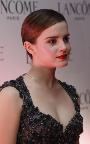 British actress Emma Watson attends an promotional event for a cosmetic brand in Hong Kong Wednesday Dec.7, 2011.  (AP Photo/Kin Cheung)