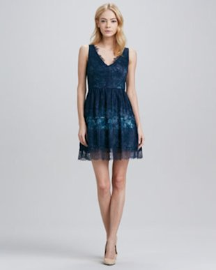 BCBG A-Line Lace Dress