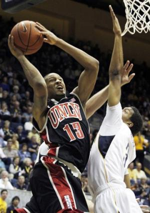 No. 21 UNLV edges California on Thomas' putback