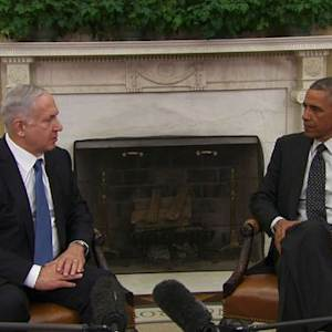 Obama, Netanyahu meet as Iran nuclear deadline approaches