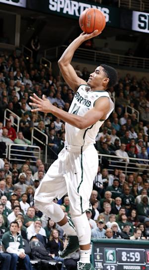 No. 3 Michigan State beats Indiana 71-66