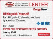 Design News Announces Expanded Digi-Key Continuing Education Center for 2014