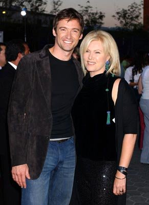 Hugh Jackman and wife Deborra-Lee Furness at the L.A. premiere of Universal Pictures' Van Helsing
