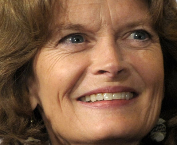 FILE - In this Jan. 25, 2012, file photo Republican Sen. Lisa Murkowski, R-Alaska, right, arrives at a film premiere in Washington. A moderate in an era of paralyzing partisanship, Murkowski, 54, may be a natural heir to the centrist role played by retiring Maine Sen. Olympia Snowe at a time when their party is hurting for female leaders. (AP Photo/Susan Walsh)