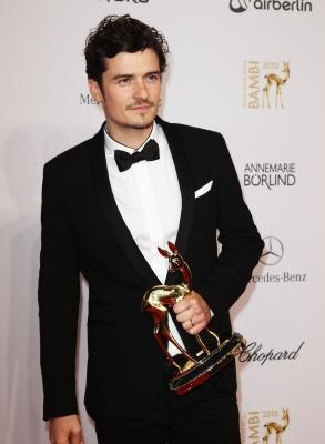 Orlando Bloom looking dapper at the Bambi 2010 Award Winners Board at Filmpark Babelsberg in Potsdam, Germany on November 11, 2010 -- Getty Images