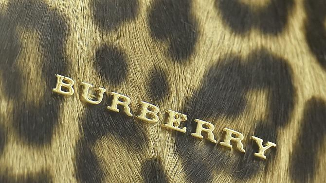 File photograph of detail of a handbag seen at a Burberry store in central London