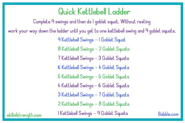 Kettlebell ladder workout