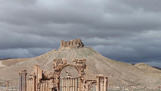 Part of the ancient oasis city of Palmyra, pictured in March 2014