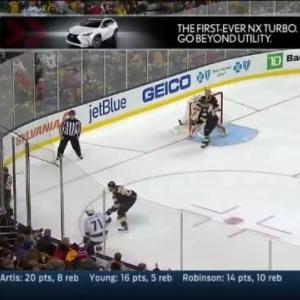 Tuukka Rask Save on Justin Williams (02:54/1st)