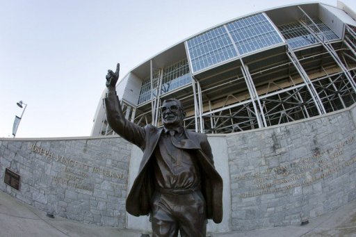 "<p>A statue of former Penn State University head football coach Joe Paterno is seen outside of Beaver Stadium in 2011. An investigation into a pedophilia scandal at Penn State University reported Thursday that top officials at the US college showed ""total and consistent disregard"" for the wellbeing of the child victims.</p>"