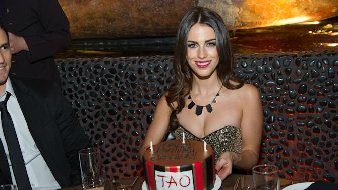 Jessica Lowndes' birthday celebration at Tao Restaurant on Saturday, Nov. 10, 2012, in Las Vegas, NV. (Photo by Powers Imagery/Invision for TAO/AP Images)