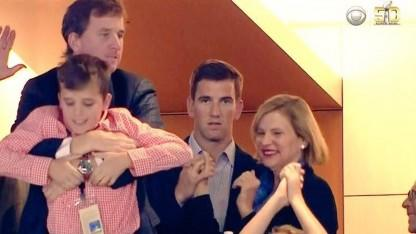 Eli Manning Didn't Look Very Happy About Brother Peyton's Super Bowl Win