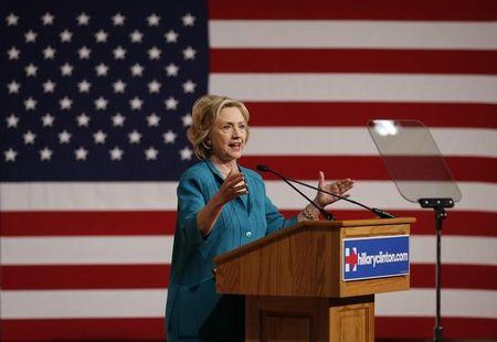 Democratic U.S presidential candidate Hillary Clinton makes a speech on Cuban relations at Florida International University in Miami