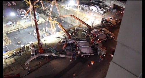 Video Interlude: Watch 638 Trucks Pour the Concrete For Downtown LA Megaproject Metropolis