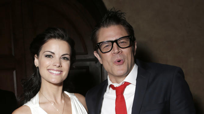 """Jaimie Alexander and Johnny Knoxville attend the after party for the LA premiere of """"The Last Stand"""" at Grauman's Chinese Theatre on Monday, Jan. 14, 2013, in Los Angeles. (Photo by Todd Williamson/Invision/AP)"""