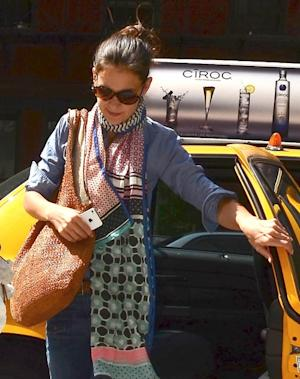 Katie Holmes is seen entering the Children's Museum Of The Arts in New York City on July 9, 2012 -- Getty Premium
