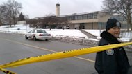 Thistletown high school was under lockdown Thursday following a robbery and shooting. Ten male suspects are currently in custody.