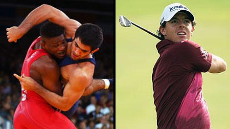 Wrestling and golf