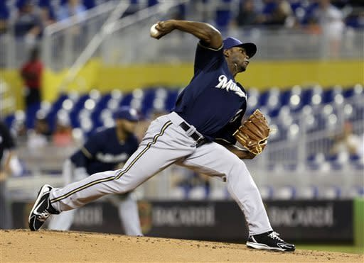 Brewers too much for Marlins 10-1