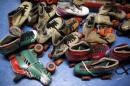 "A pile of roller skates are seen at ""Rich City Skate"" in Illinois"