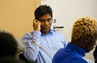 Singaporean Wilson Raj Perumal (C) looks on in the Lapland district court in Rovaniemi in 2011. When Singapore's Perumal, a virtuoso fixer whose schemes extended to organising, and then rigging, international friendlies, was arrested last year in Finland, it exposed a web which is still being untangled