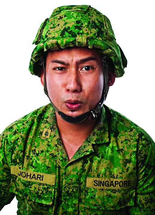 Adi Jamaluddin stars as Johari Salleh in Army Daze: The Production (Photo courtesy of Event Clique)