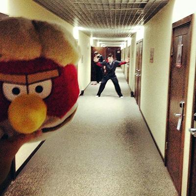 """Team Canada players at 2013 WJC (World Junior Hockey Championship) invented an 'Angry Birds' game called """"Pashenka"""""""