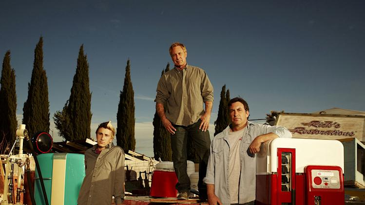 "Tyler, Rick, and Ron Dale in ""American Restoration."""