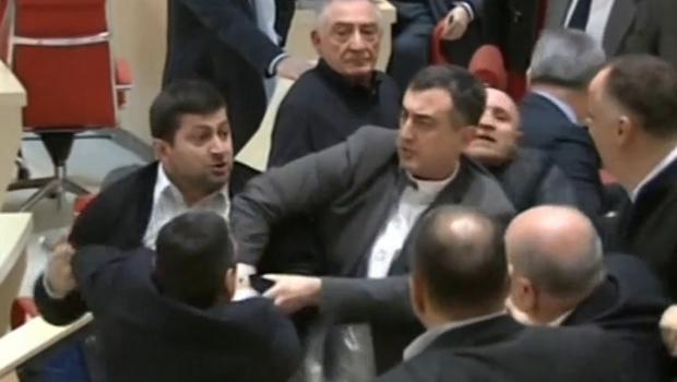 Brawl breaks out in Georgia parliament