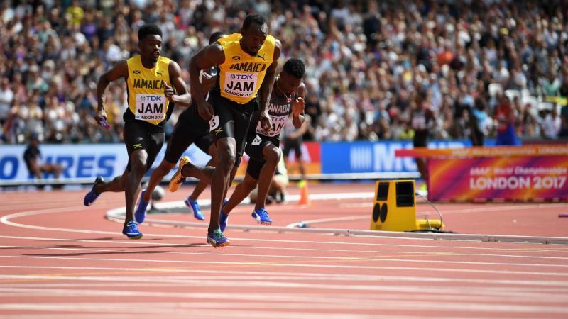Mayer on track for decathlon gold, Bolt feeling the love