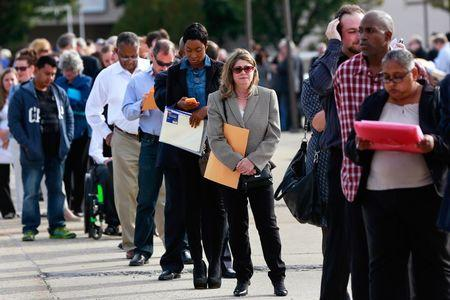 U.S. jobless claims rise; labor market still strong