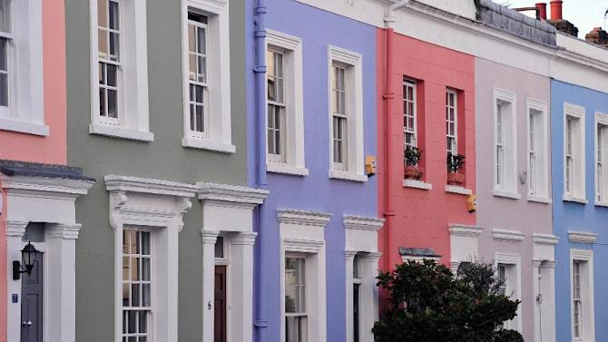 Houses are pictured in central London on January 28, 2014