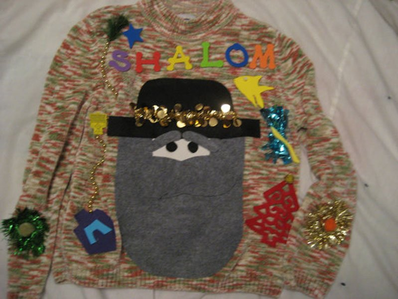 "Ugly ""Hanukkah Harry"" sweater, $33, etsy.com"