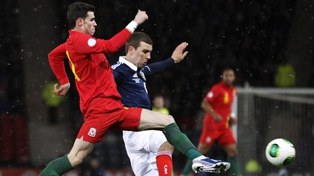 Gareth Bale and James McArthur, Scotland v Wales (Reuters)