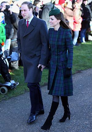 """Kate Middleton Looks Pretty in Tartan Coat at Christmas Service, Says Prince George Had """"Lovely"""" First Holiday"""