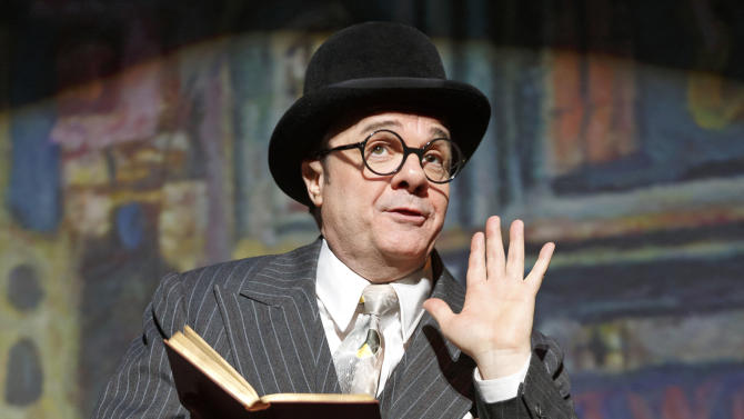 "FILE - This undated theater publicity image originally released by Lincoln Center Theater shows Nathan Lane in ""The Nance,"" at the Lyceum Theatre in New York. A recording of Douglas Carter Beane's play will be broadcast to more than 300 movie theaters in the U.S. and Canada beginning June 23. The play will also be featured on ""Live From Lincoln Center"" this fall on PBS. (AP Photo/Lincoln Center Theater, Joan Marcus, File)"