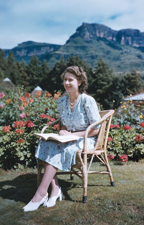 FILE - In this April 21, 1947 file photo, Britain's Princess Elizabeth, later Queen Elizabeth II, sits at Natal National Park in South Africa, on her 21st birthday. Starting Saturday, June 2, 2012