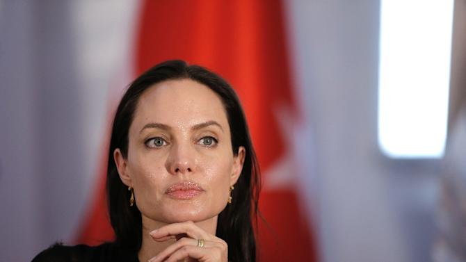 Angelina Jolie, pictured in Turkey in June,  is a special envoy for the United Nations' refugee agency