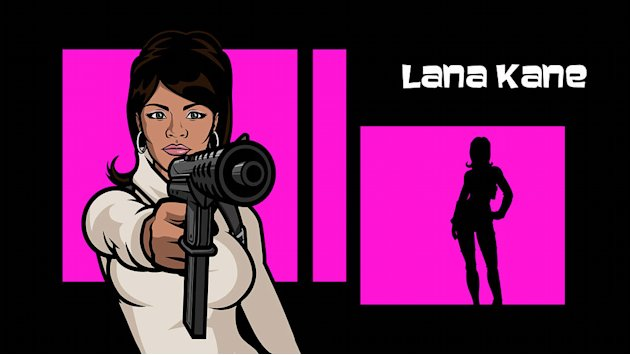 "Lana Kane (voiced by Aisha Tyler) in ""Archer."""