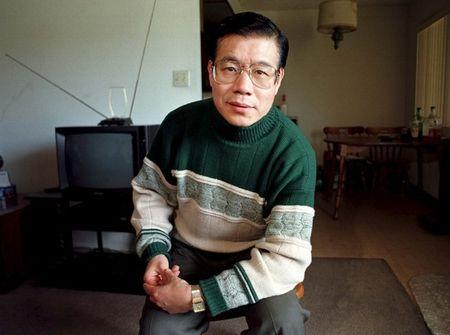 File photo of U.S. based Chinese dissident Wang Bingzhang posing in a friend's apartment in Monterey Park