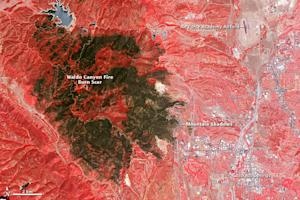 Colorado Wildfire Scar Spotted from Space