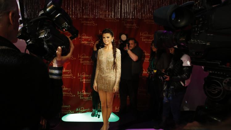 The wax figure of singer and actress Selena Gomez is unveiled at Madame Tussauds museum in Hollywood
