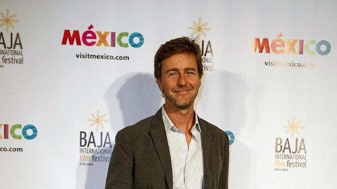 IMAGE DISTRIBUTED FOR MEXICO TOURISM - Actor Edward Norton during the launch of the Baja International Film Festival at the Beverly Hilton on Wednesday, October 10, 2012, in Beverly Hills, Calif. (Bret Hartman/AP Images for Mexico Tourism)