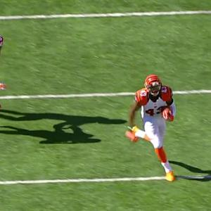Cincinnati Bengals safety George Iloka intercepts Matt Ryan