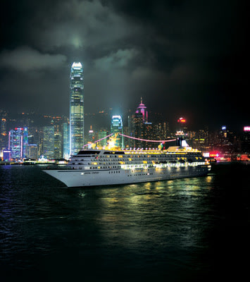 Crystal Symphony in Hong Kong's Victoria Harbour.